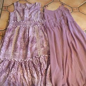 Large lavender bohemian maxi with inner slip